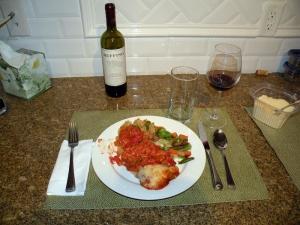 My eggplant parmesan dinner - Jan 3, 2011