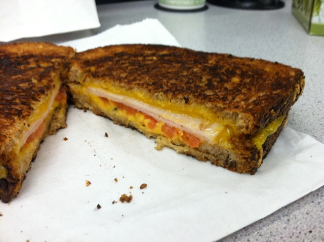 Turkey cheddar from the Gorilla Cheese truck - New York, NY - Dec 20, 2011