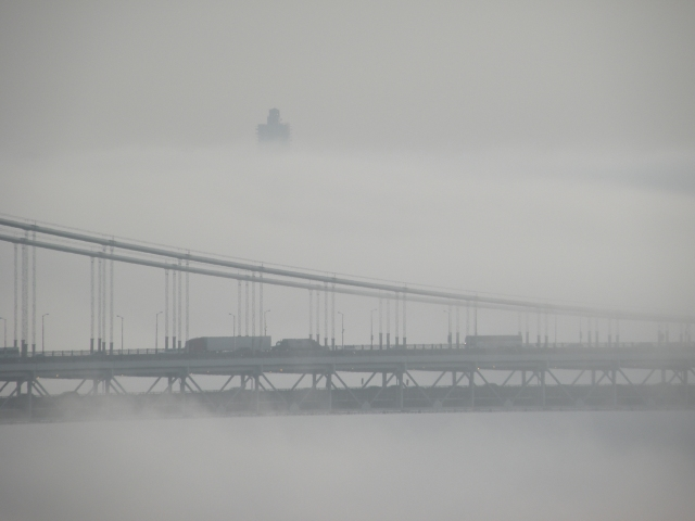 The George Washington Bridge is seen from Fort Lee, NJ - Mar 17, 2012
