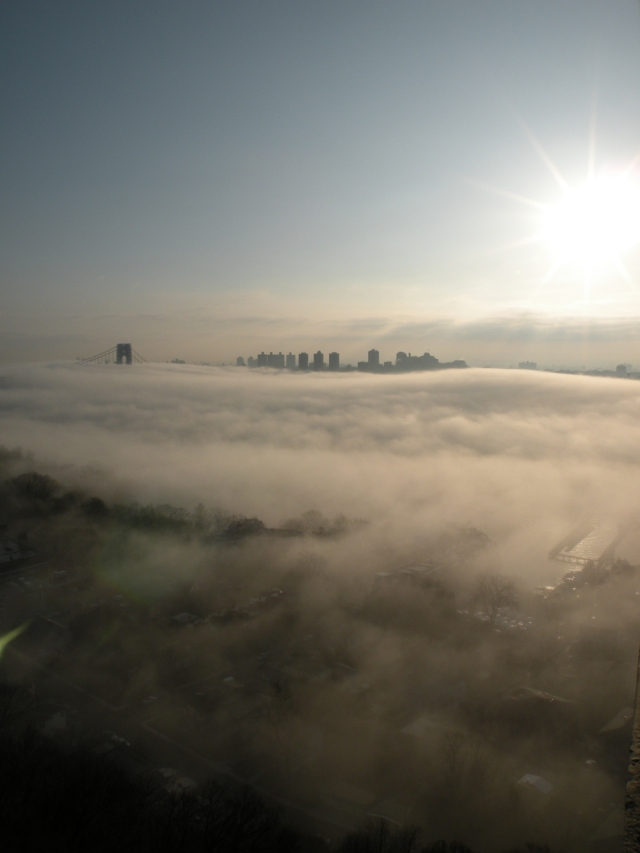 Fog is seen from Fort Lee, NJ - Mar 17, 2012